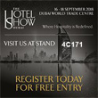 HOTEL SHOW DUBAI 2018<br/>  September 16-18, 2018<br/> Dubai World Trade Centre